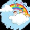 みんなでふわふわの雲に乗って幸せになろう♪ マインドフルネスの画像