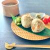 *朝ごはん*〜鶏皮五目おにぎり&布海苔のお味噌汁〜の画像