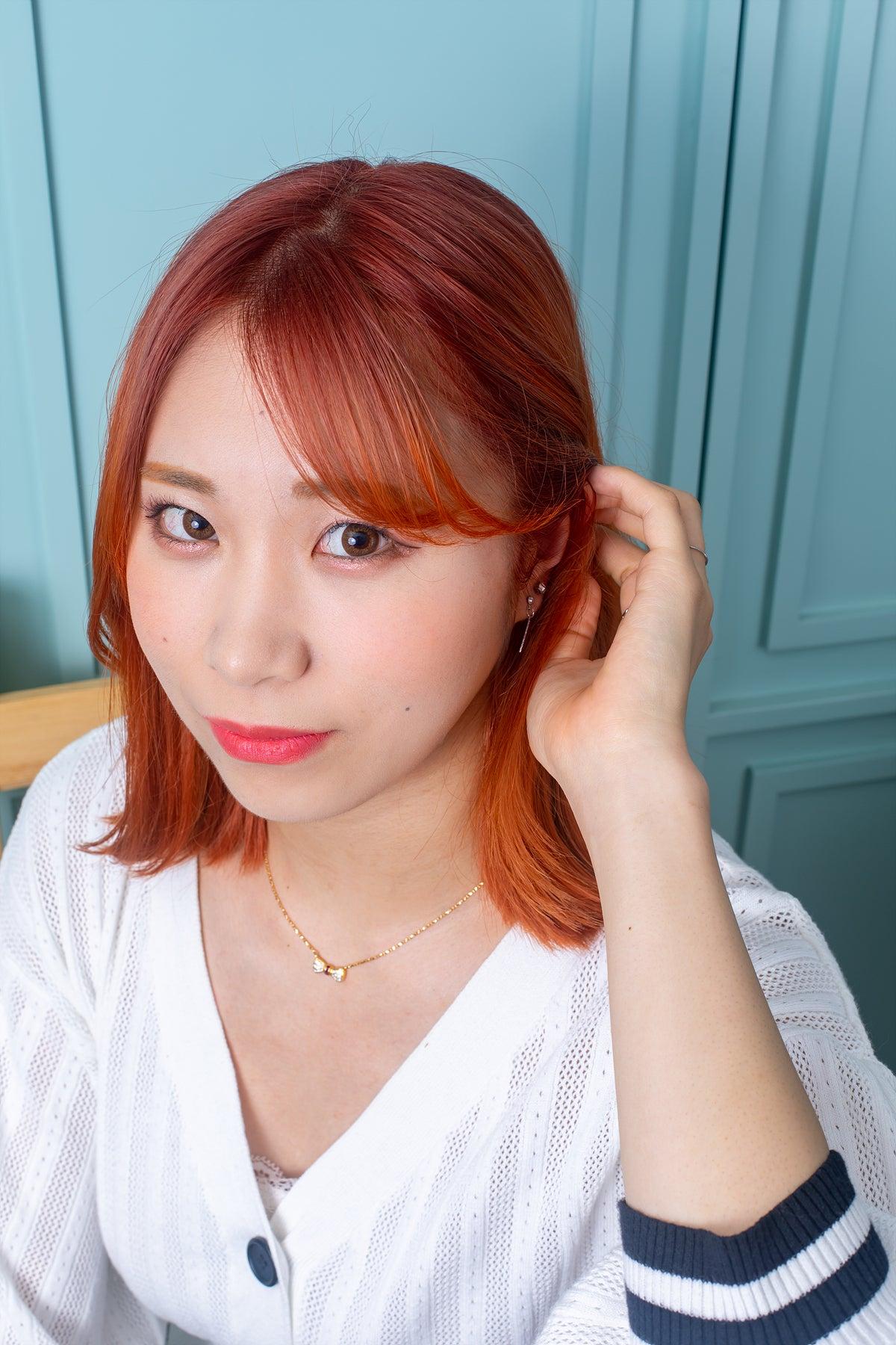 韓国ヘアスタイル】 韓国の芸能人ヘアスタイル、オレンジカラー