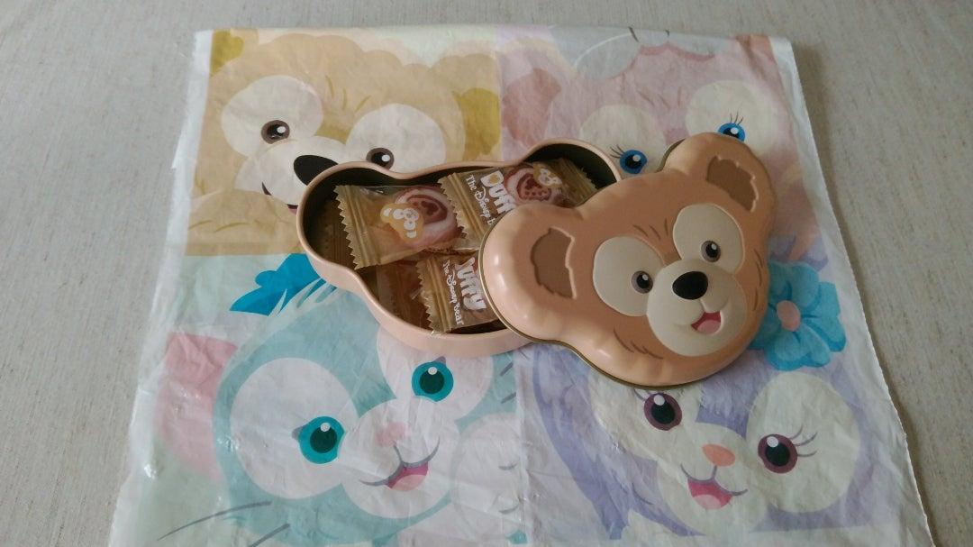ディズニーシー土産 Duffy缶入りキャンディー(紅茶風味)などの ...