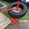 タイヤチェンジャー購入しました!スカイラインのタイヤ、自分で組み換えしてみました。の画像
