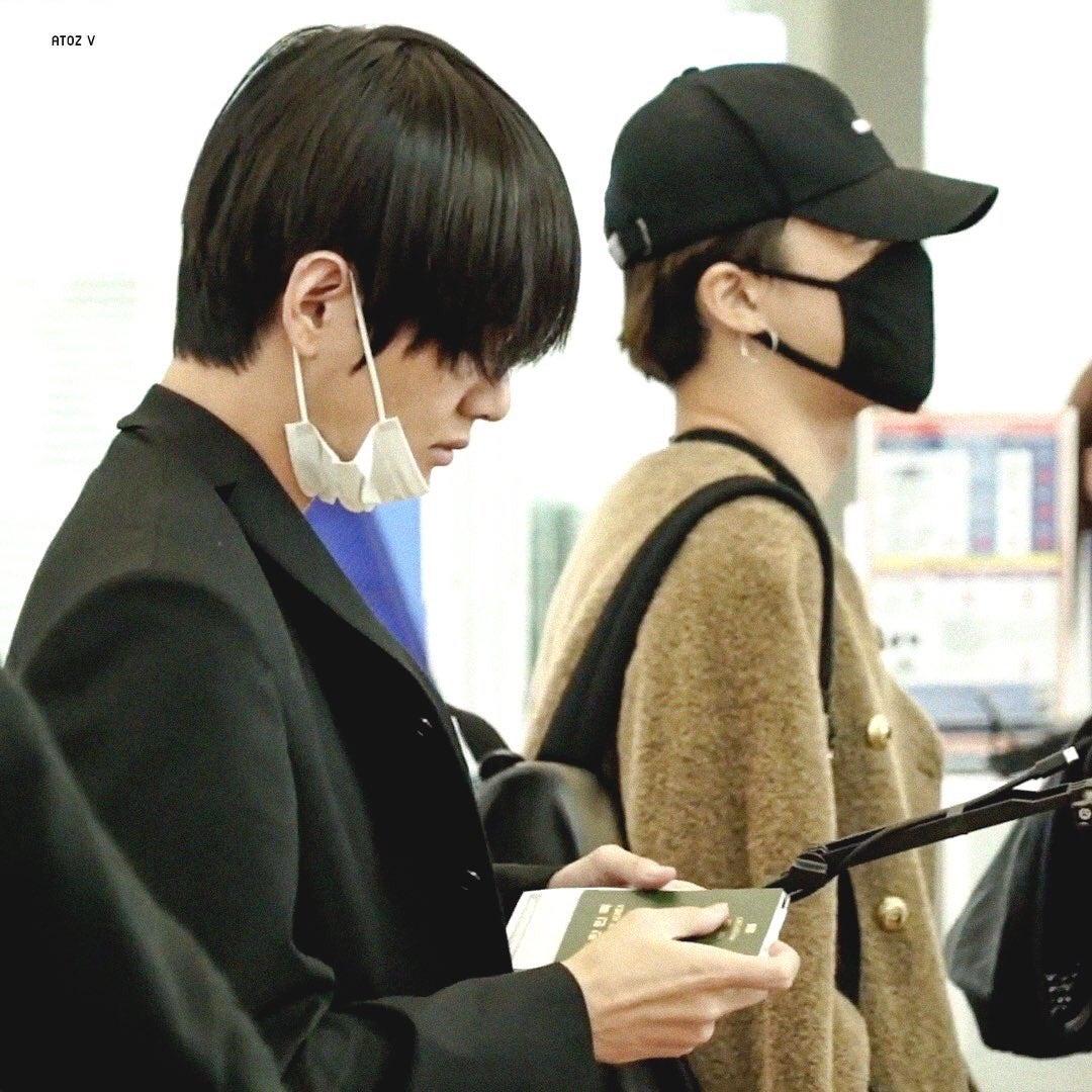 BTS  仁川空港出国