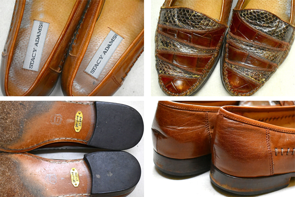 ブラウンレザーシューズ茶革靴@古着屋カチカチ