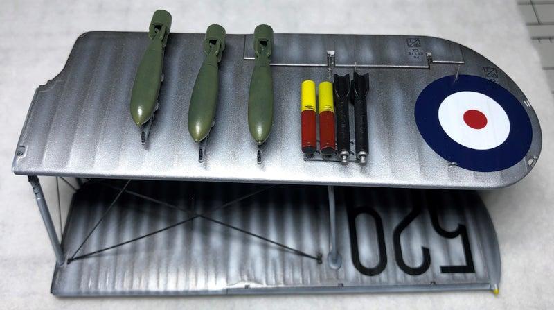 タミヤ フェアリーソードフィッシュ水上機型の主翼爆弾
