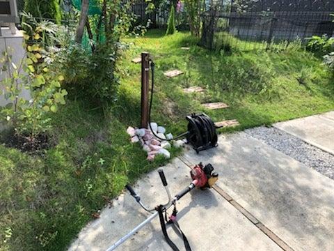 瀬戸市で芝刈り前