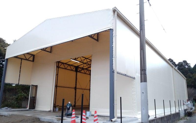 上屋一体型テント倉庫