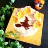 「これ楽しいです!」ドキドキの転写!ハロウィン魔女ケーキ可愛く完成!の画像