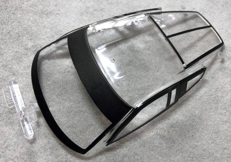 レベル コルベットC7.Rの窓クリアパーツ
