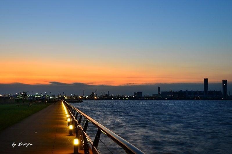 花星人Tomokata東扇島・東公園からの夕景、、、、