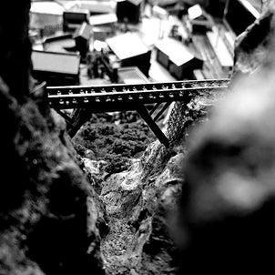 Nナローの山岳部分の作成の画像