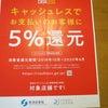 10月~6月キャッシュレスで支払5%還元対象店舗ですの画像
