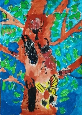 絵画教室~子供コース 四つ切画用紙作品~ | 絵画教室アトリエ ...