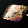 べっ甲牡丹花車螺鈿金蒔絵の見事なローマ留め|髪のボリュームのある方にお勧め。静電気が起きにくく髪の画像
