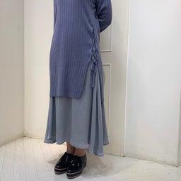 画像 ♡ワイドリブニット+サテンフィッシュスカート♡ の記事より 2つ目