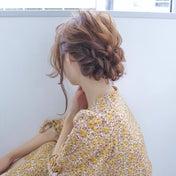 鎖骨ヘアで作る三つ編みギブソンタック hair arrange & hair set