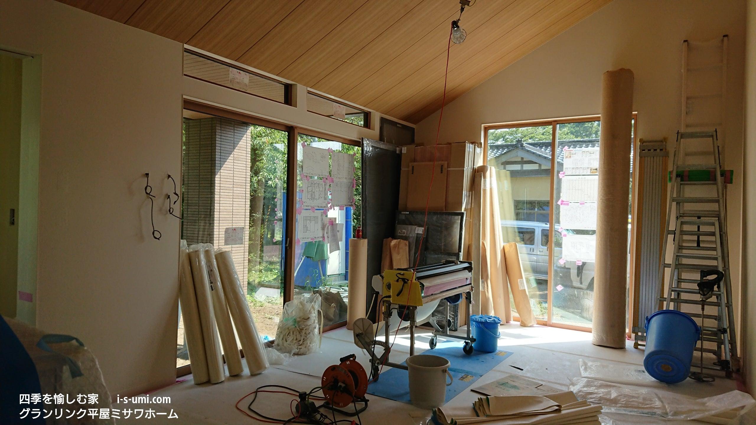 建築現場 後編 壁 天井クロス張り 匠の手仕事 ミサワホーム 四季