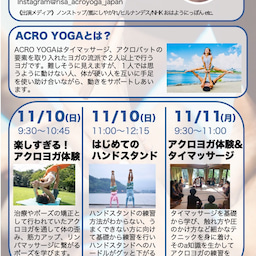 画像 11/10(日)&11/11(月)西浦りさ先生 アクロヨガ体験とハンドスタンドワークショップ の記事より 2つ目