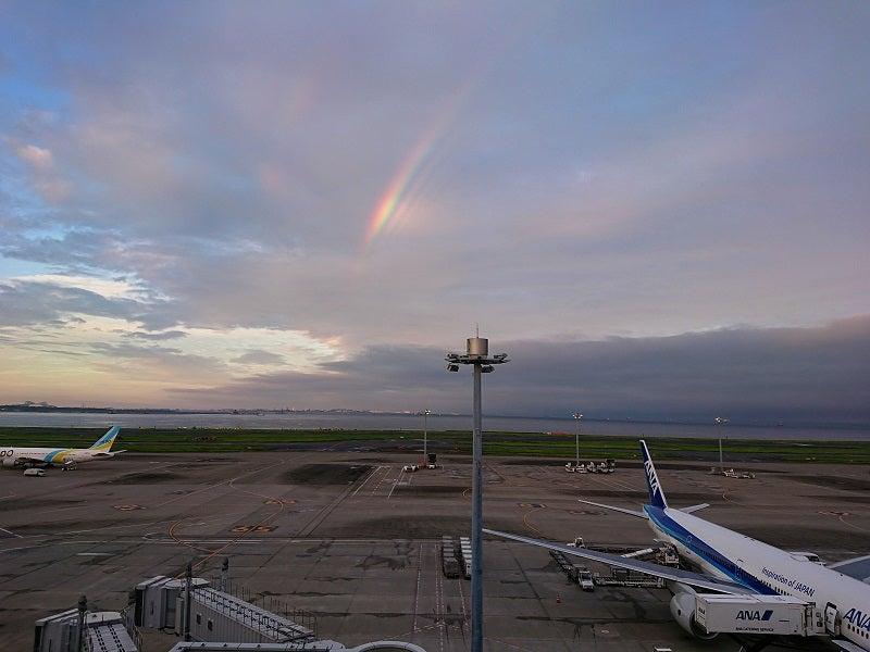 空港での虹