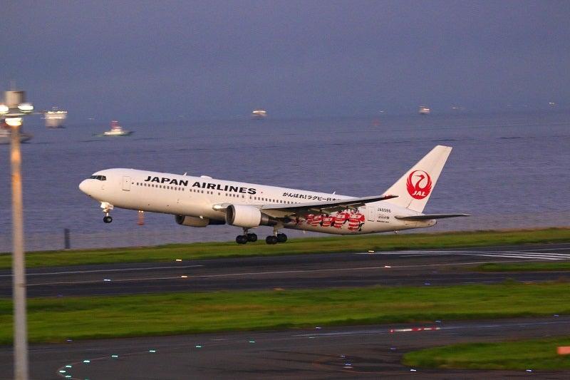 飛行機ラグビー日本代表