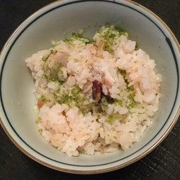 タコと里芋の炊き込みご飯の残りに柚子胡椒