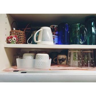 無印良品整理ボックスで食器棚の使い勝手を改善