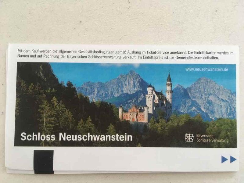 ノイシュバンシュタイン城のチケット