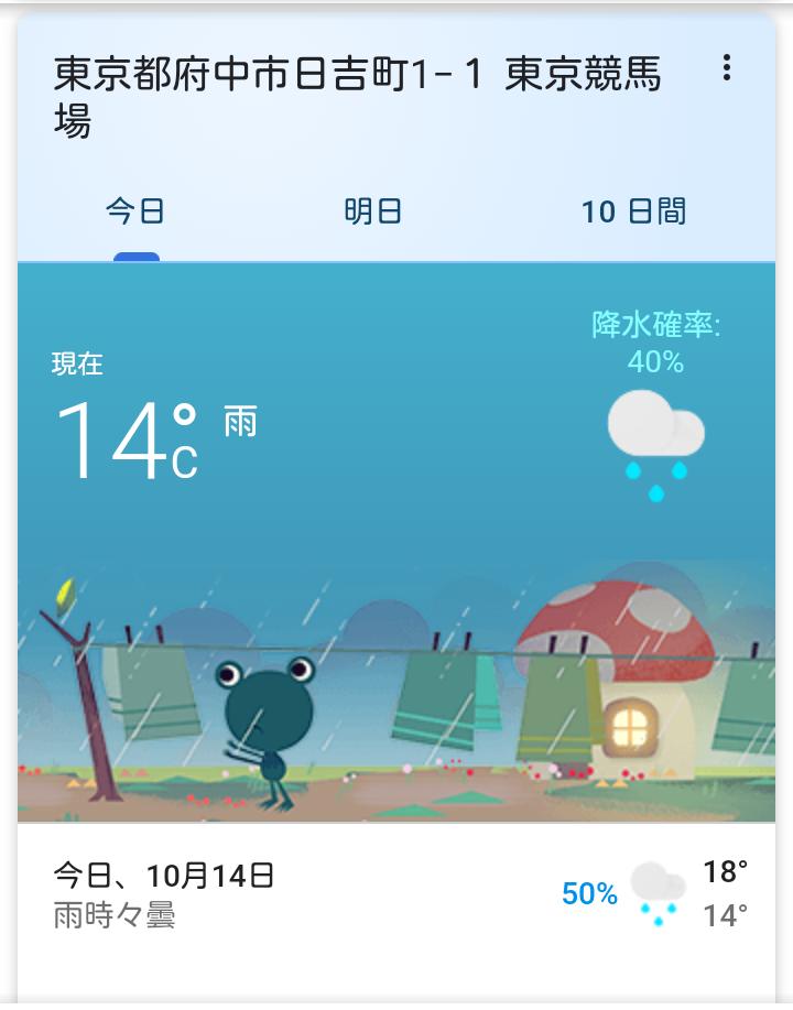 明日 の 東京 競馬 場 の 天気