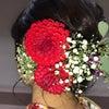 成人式  生花の髪飾りの画像