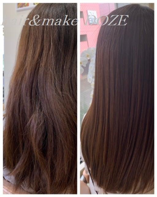 この髪質改善プレミアムトリートメントは三重県でドーゼのみ!!!