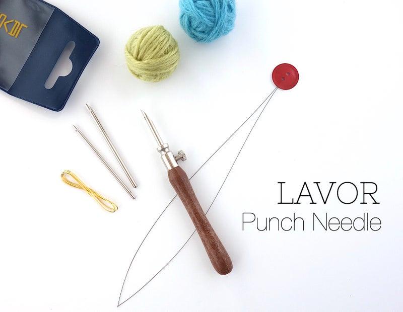 中細毛糸用パンチニードル*ブローチなど細かな柄表現に最適!