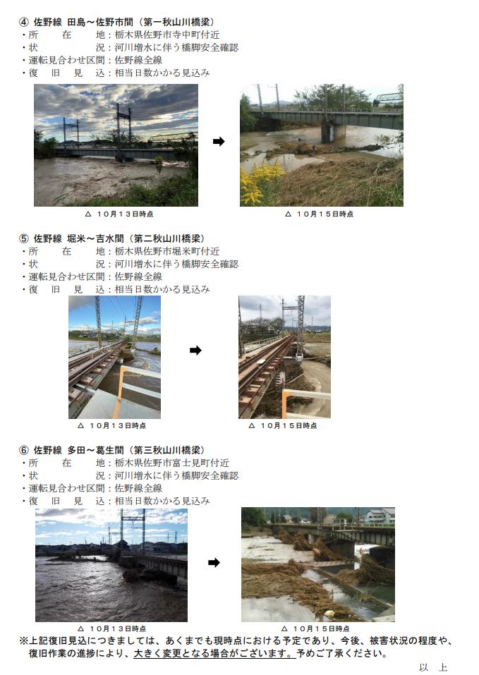 東武 鉄道 台風