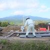 バイパス道路の水道工事の画像