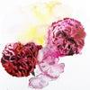 水彩デモンストレーションと花あしらいの画像