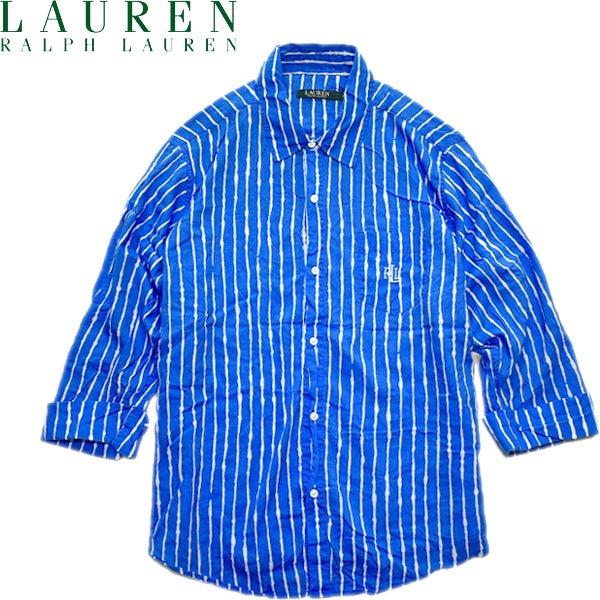 長袖ストライプシャツ画像@古着屋カチカチ
