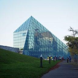 """画像 モエレ沼公園を象徴するモニュメント、ガラスのピラミッド """"HIDAMARI""""へ の記事より 1つ目"""