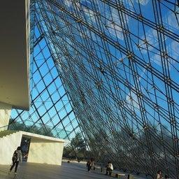 """画像 モエレ沼公園を象徴するモニュメント、ガラスのピラミッド """"HIDAMARI""""へ の記事より 4つ目"""