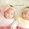 双子のベビーフォトの画像