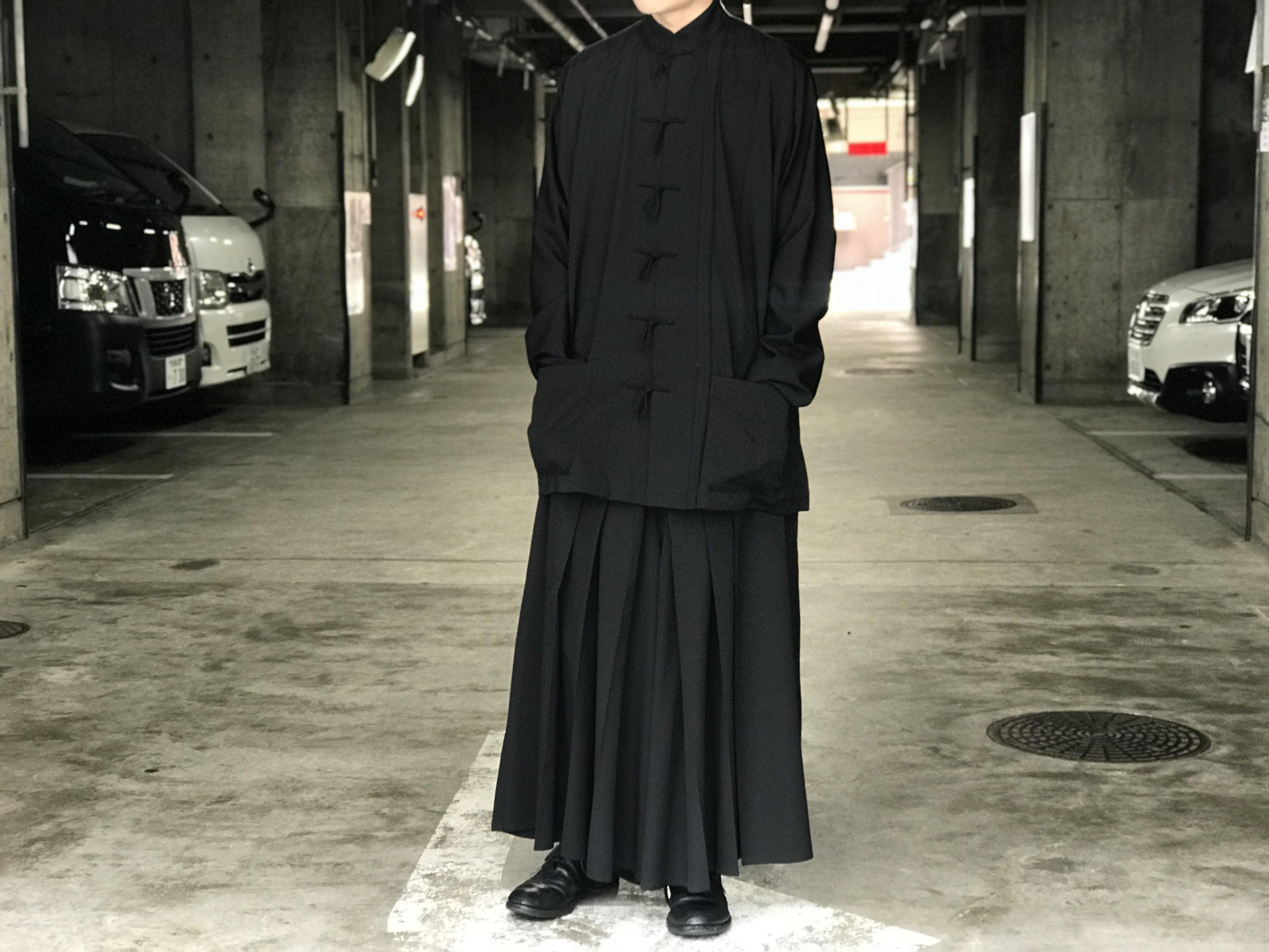 YOHJI YAMAMOTO POUR HOMME 16SS シワギャバ チャイナシャツ