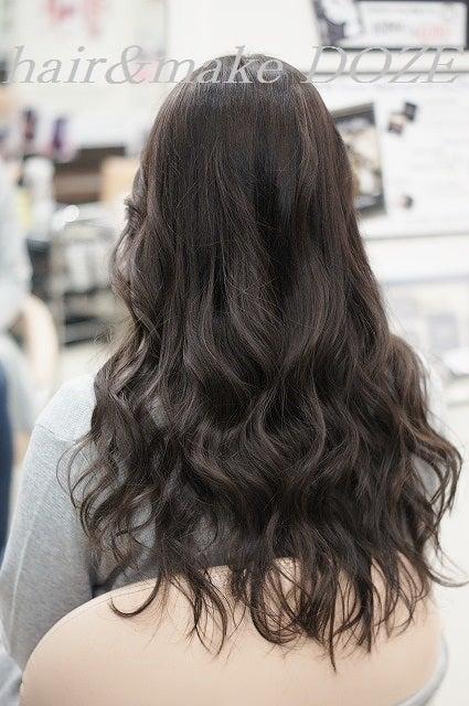 行きすぎないハイライト&ローライト+髪質改善プレミアムトリートメント+巻き。