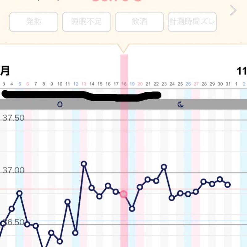 22日目 高温期 高温期19日目、妊娠したときの基礎体温グラフとしなかったときのグラフ(画像あり)