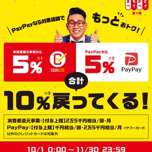キャッシュレス・消費者還元事業 加盟店となりました(還元率5%)大阪市北区梅田・鍼灸院の画像