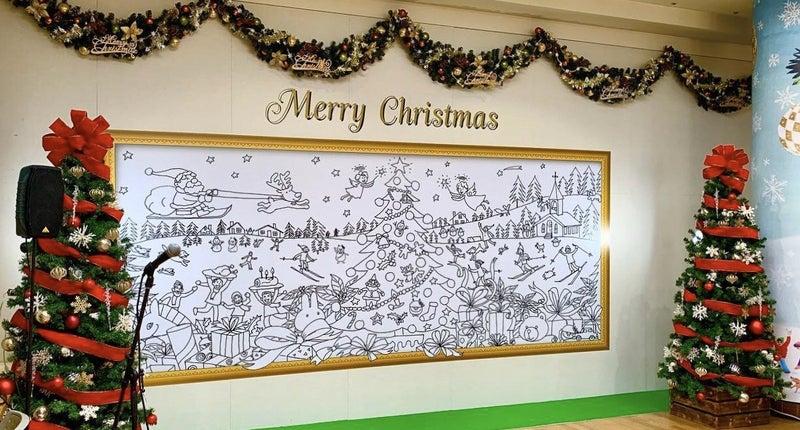 廣川じゅんさんが クリスマスの塗り絵ワークショップ の下絵を描きました!