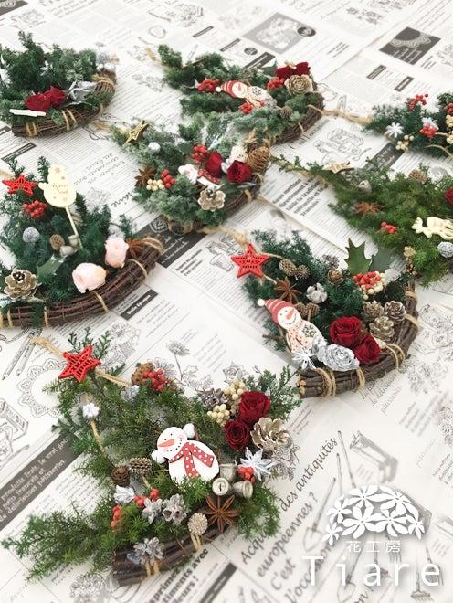 プリザーブドフラワー レッスン 教室 ワークショップ 岩手県 釜石市 クリスマス