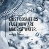 今使ってる化粧品、殆ど水でできているの画像