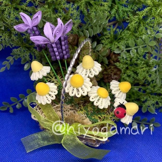 カモミールとランベンダーの花籠