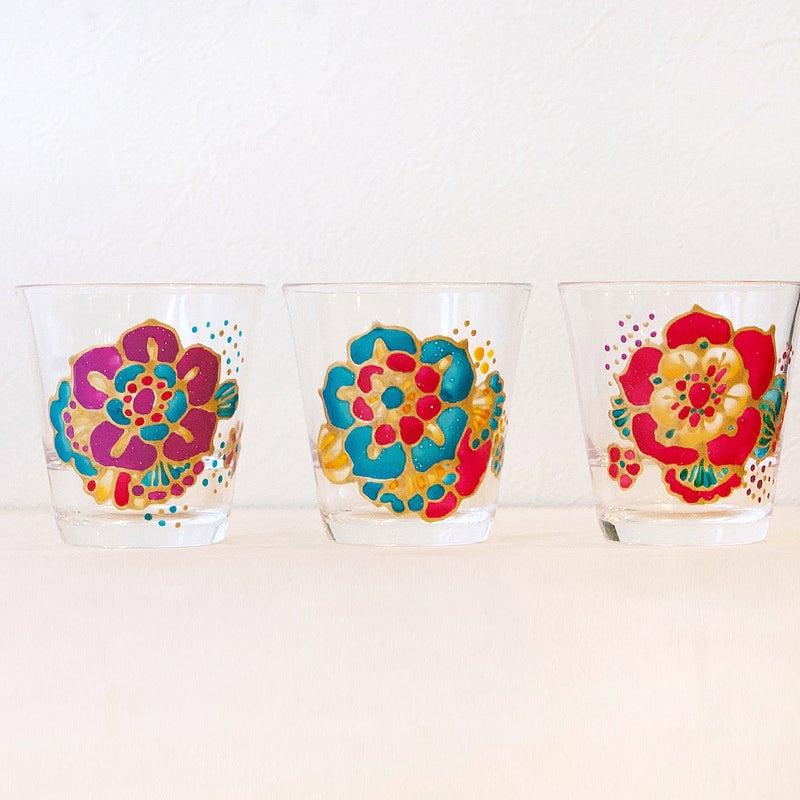 お花グラス3種類♬