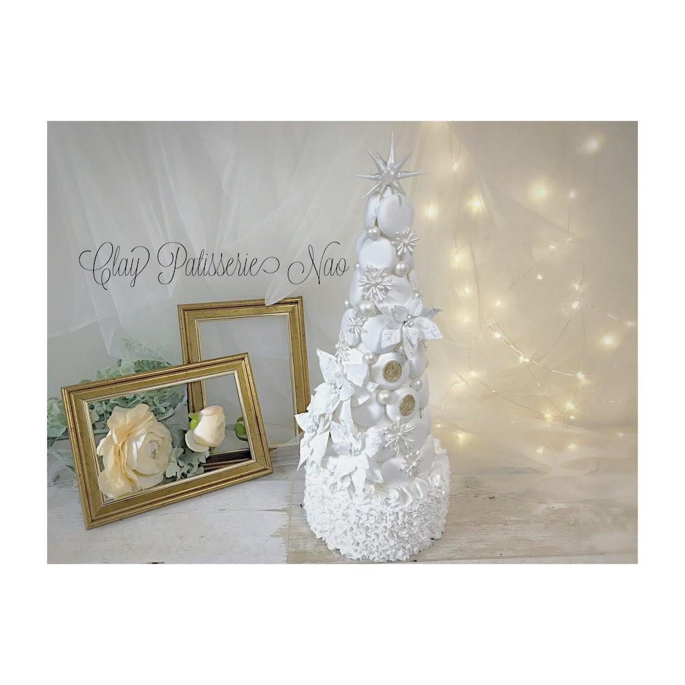 ホワイトクリスマスのマカロンタワーのご紹介♡