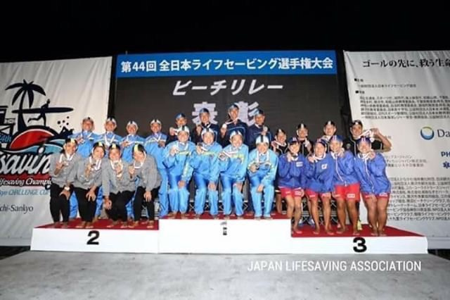 ライフセービング全日本選手権 ビーチリレー3位
