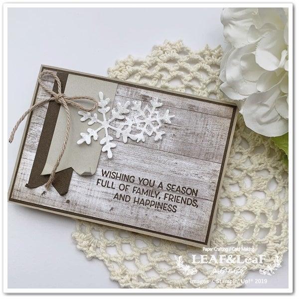 雪の結晶のカード スタンピンアップ