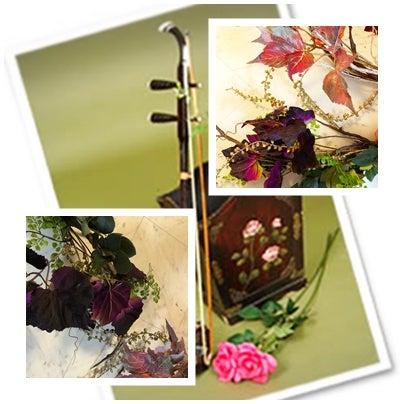 中国二胡フラワー装飾イメージ写真